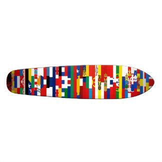 Planche à roulettes européenne de drapeaux planches à roulettes