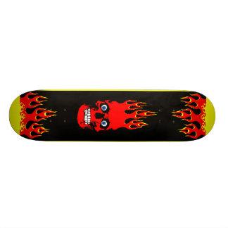 Planche à roulettes flamboyante de crâne skateboards cutomisables