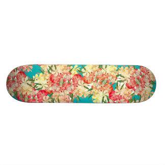 Planche à roulettes florale d'île de fleurs plateaux de planche à roulettes