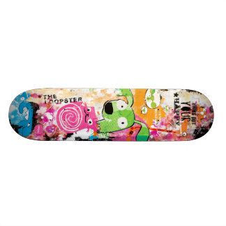 Planche à roulettes grunge d'Aleloop d'animaux Skateboard Old School 21,6 Cm