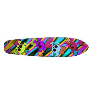 Planche à roulettes mignonne de crâne skateboard old school 18,1 cm