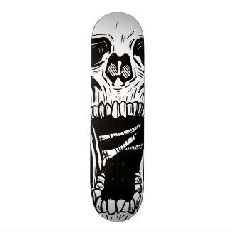 Planche à roulettes noire et blanche de crâne mini skateboard 18,4 cm
