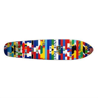 Planche à roulettes nord-américaine de drapeaux