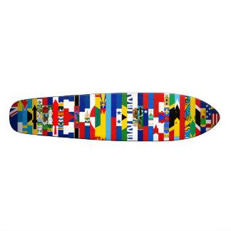 Planche à roulettes nord-américaine de drapeaux plateau de planche à roulettes
