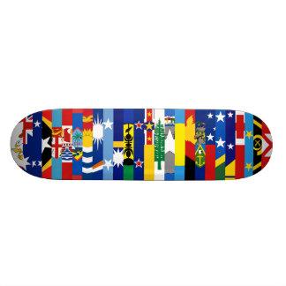 Planche à roulettes Oceanian de drapeaux Skateboard 21,6 Cm