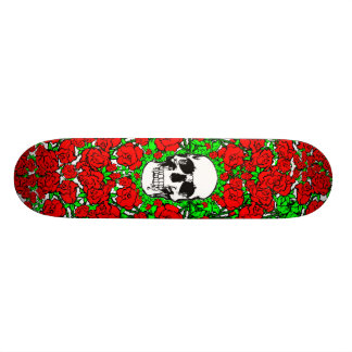 Planche à roulettes rose de crâne plateaux de skateboards