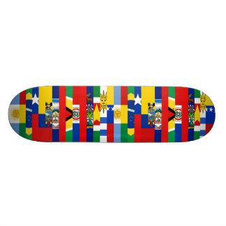 Planche à roulettes sud-américaine de drapeaux mini skateboard 18,4 cm