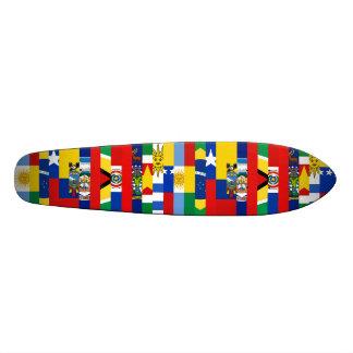 Planche à roulettes sud-américaine de drapeaux planche à roulette