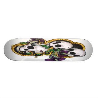 Planche à roulettes triple de crâne (blanche) plateau de skate