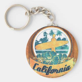 Planche de surf de la Californie Porte-clé Rond