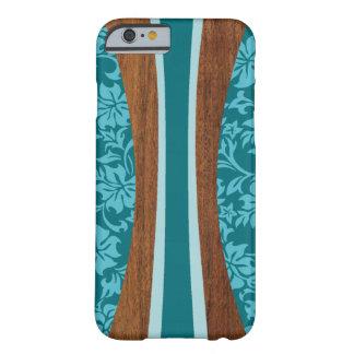 Planche de surf hawaïenne en bois de Faux de Lania Coque Barely There iPhone 6