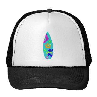 Planche de surf tropicale de ketmie casquette