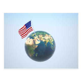 Planète Amérique Carte Postale
