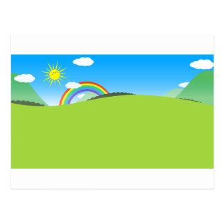 Planète colorée heureuse 03 carte postale