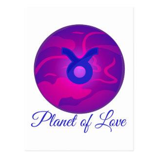 Planète de l'amour carte postale