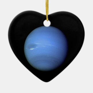 Planète de Neptune dans notre système solaire Ornement Cœur En Céramique