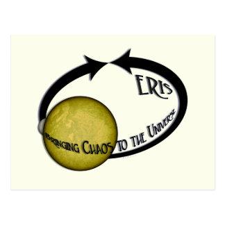 Planète Eris apportant le chaos à l'univers Carte Postale