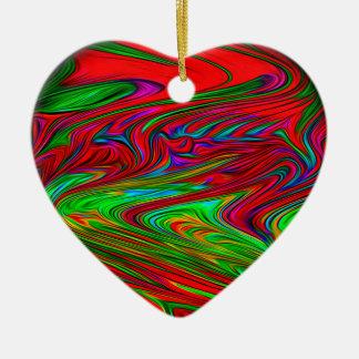 Planète étrangère ornement cœur en céramique