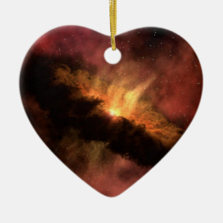 Planète infrarouge de la NASA formant le disque Ornement Cœur En Céramique