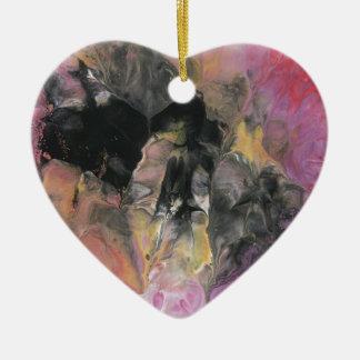 Planète soudaine ornement cœur en céramique