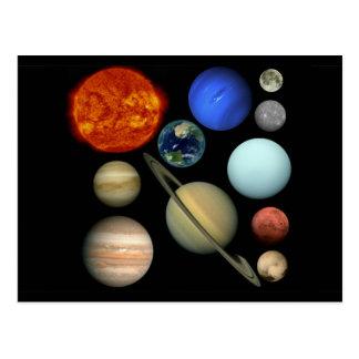 Planète système solaire carte postale