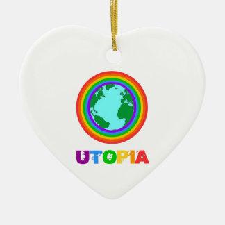Planète Utopia Ornement Cœur En Céramique