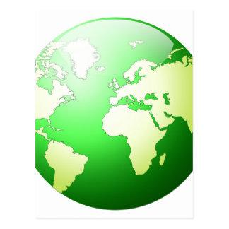 """Planète verte "" Carte Postale"
