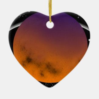 planets ornement cœur en céramique