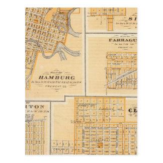 Plans de Hambourg, Sidney, Farragut Carte Postale