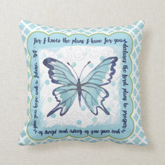 Plans pour vous coussin de papillon (bleu et vert)