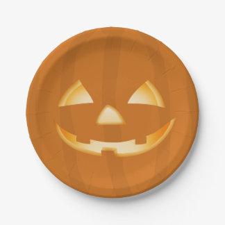 Plaque à papier de partie de Halloween de visage Assiettes En Papier