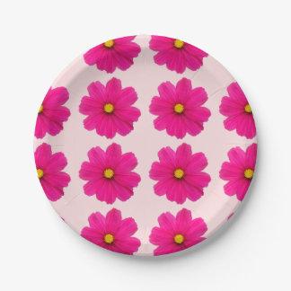 plaque à papier rose girly mignonne de motif de assiettes en papier
