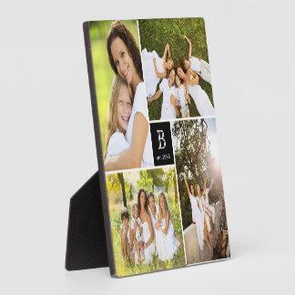 Plaque carrée moderne de collage de photo de