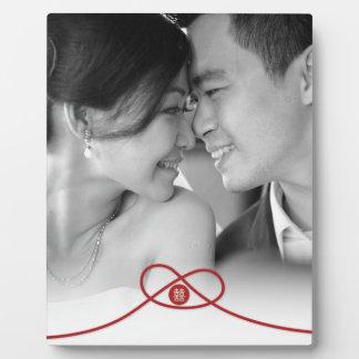 Plaque chinoise de photo de mariage de double plaque d'affichage
