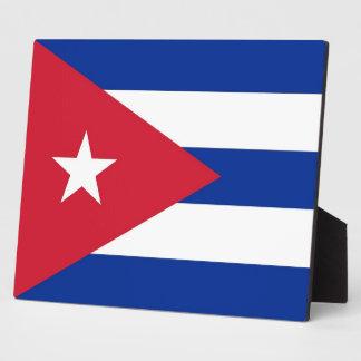 Plaque de drapeau de Cubanese