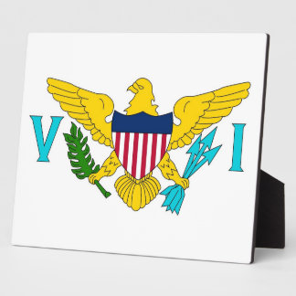 Plaque de drapeau des Îles Vierges