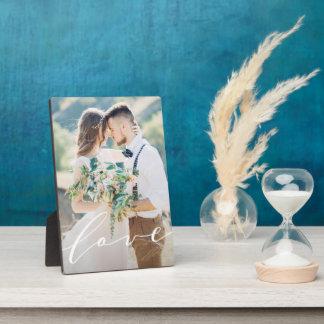 Plaque de photo d'amour