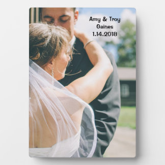 Plaque de photo de mariage impression sur plaque