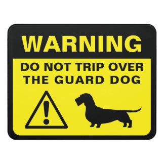 Plaque De Porte Avertissement à poils durs de chien de garde de