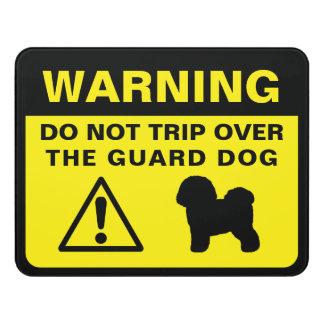 Plaque De Porte Avertissement drôle de chien de garde de