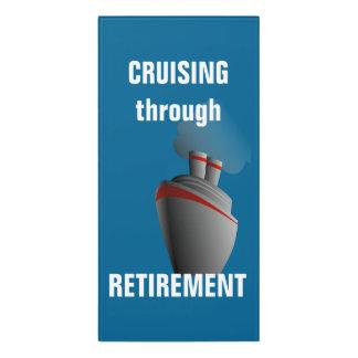 Plaque De Porte Croisière par l'Aqua de riches de retraite