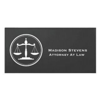 Plaque De Porte Échelles de justice d'avocat de mandataire