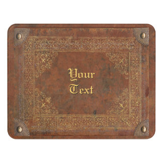 Plaque De Porte Vieux simili cuir avec votre nom