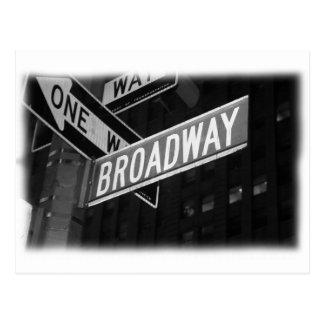 Plaque de rue de Broadway Carte Postale