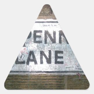 Plaque de rue de ruelle de penny, Liverpool R-U Sticker Triangulaire