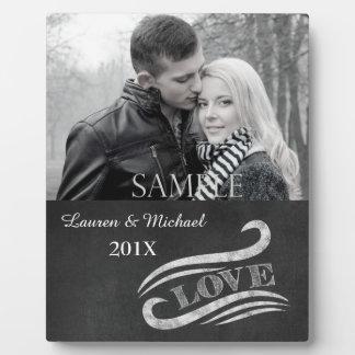 Plaque de souvenir de photo de mariage d'amour de