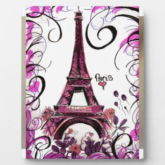 Plaque de Tour Eiffel de Paris