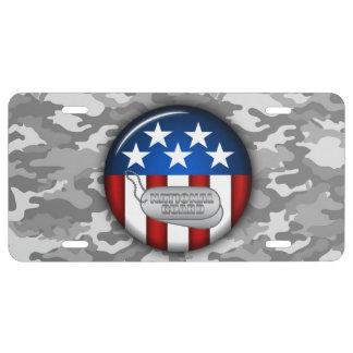 Plaque D'immatriculation Camouflage #1 de Camo d'emblème de garde nationale