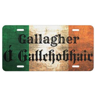 Plaque D'immatriculation Couverture irlandaise de plaque minéralogique de