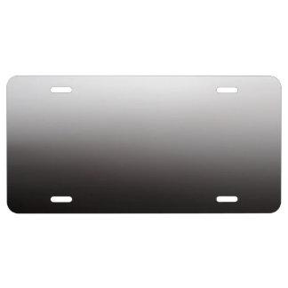 Plaque D'immatriculation Métal léger argenté d'ombre foncée